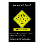 Denial of Service Security Awareness Poster