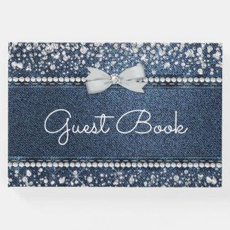 Denim and Diamond Guest Book