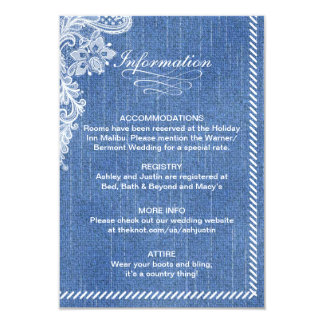 Denim and Lace Information card