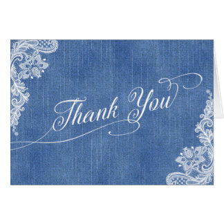 Denim and Lace Thank You card