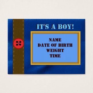 Denim Birth Announcement Card
