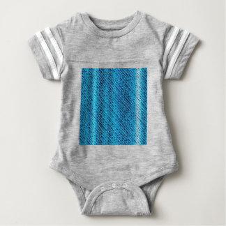 Denim Blue Background Baby Bodysuit