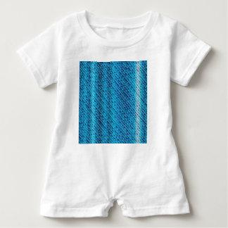 Denim Blue Background Baby Romper