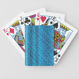 Denim Blue Background Bicycle Playing Cards