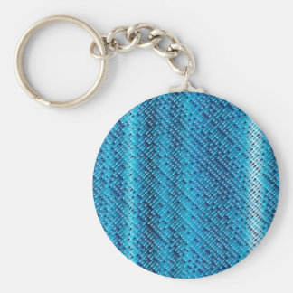 Denim Blue Background Keychain