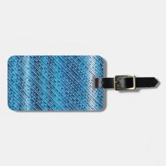 Denim Blue Background Luggage Tag