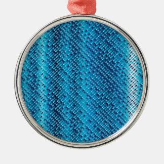 Denim Blue Background Metal Ornament