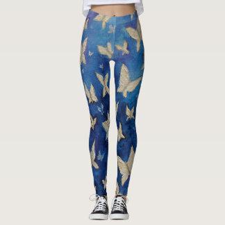 Denim Blue Butterfly Leggings