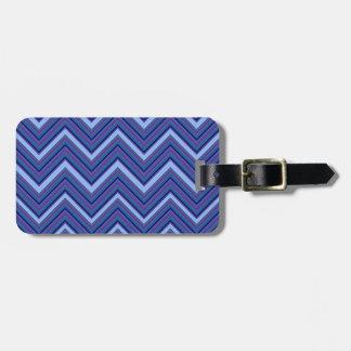 Denim Blue Chevrons Bag Tag