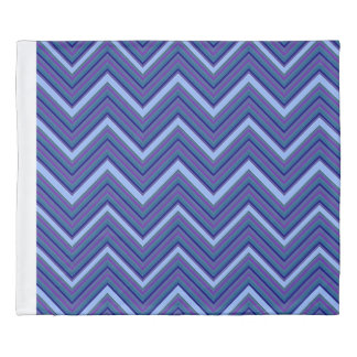 Denim Blue Chevrons Duvet Cover