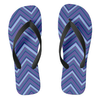 Denim Blue Chevrons Flip Flops