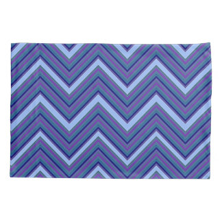 Denim Blue Chevrons Pillowcase