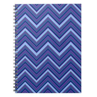 Denim Blue Chevrons Spiral Note Book
