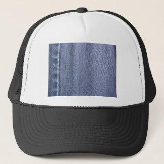 Denim blue jeans trucker hat