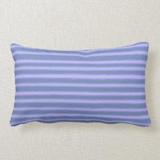 Denim blue stripes lumbar pillow