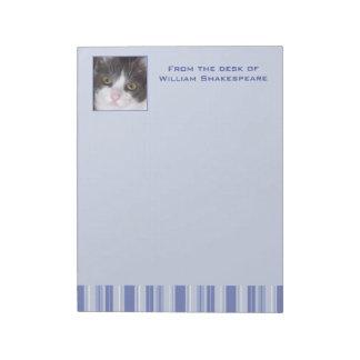 Denim Blue Stripes with Photo Insert Notepad