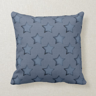 Denim blue throw pillow