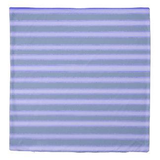 Denim blue watercolor stripes design duvet cover