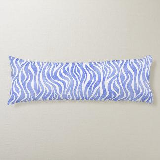 Denim Blue Watercolor Zebra Pattern Body Pillow