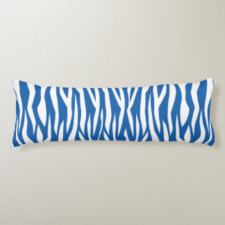 Denim Blue Zebra Print Body Pillow