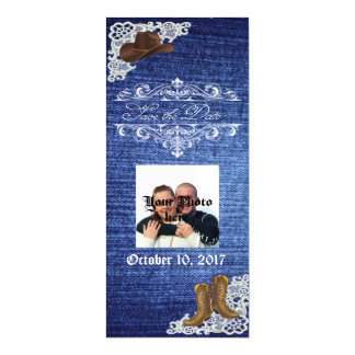 Denim Boots & Lace Save The Date Magnet