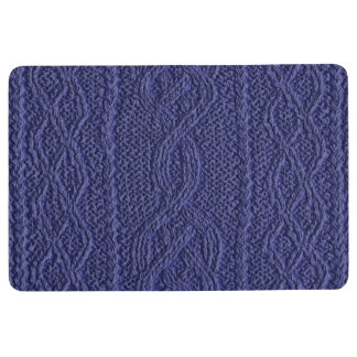 Denim Cable Knit Floor Mat