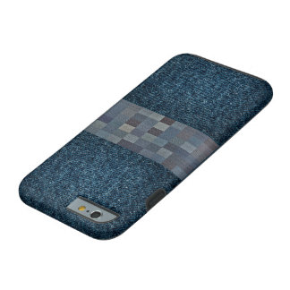Denim Check Printed iPhone 6/6s Phone case