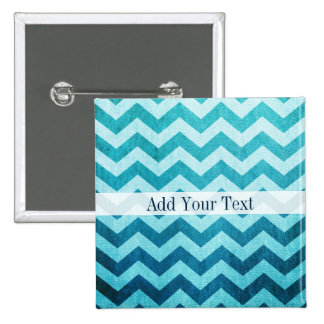 Denim Chevron by Shirley Taylor 2 Inch Square Button