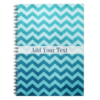 Denim Chevron by Shirley Taylor Note Book