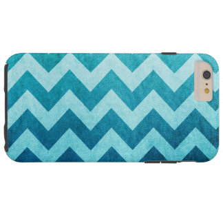 Denim Chevron by Shirley Taylor Tough iPhone 6 Plus Case