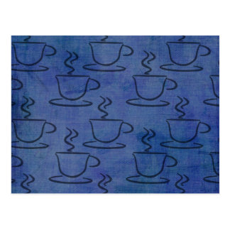 Denim Coffee Cups - Coffee Lover Gifts Postcard