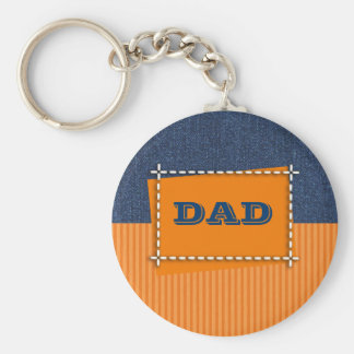 Denim Design Father's Day Gift Keychains