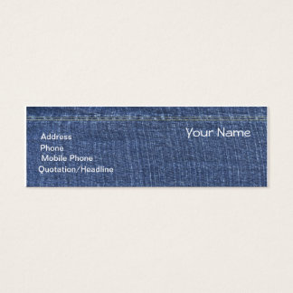 Denim Design Mommy Calling Card or Business card