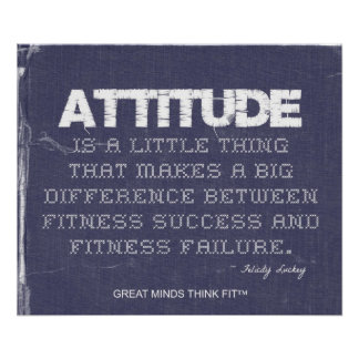 Denim Fitness with Attitude Poster