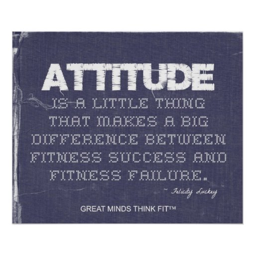 Denim Fitness with Attitude Posters