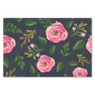 Denim Fleur Tissue Paper