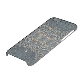 Denim Gems Clear iPhone 6/6S Case