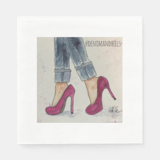 Denim & Heels Paper Napkins