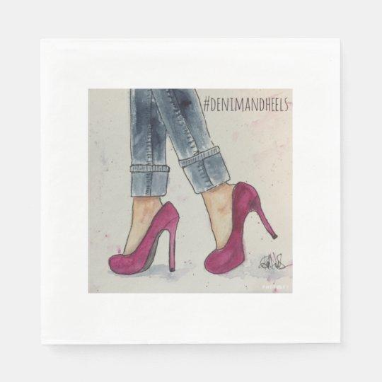 Denim & Heels Paper Napkins