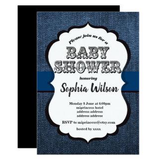 Denim Invitation , Baby Shower