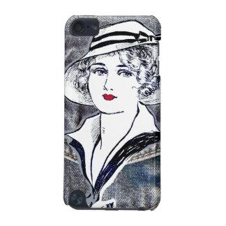 Denim/jean design & vintage ladies fashion print iPod touch 5G covers