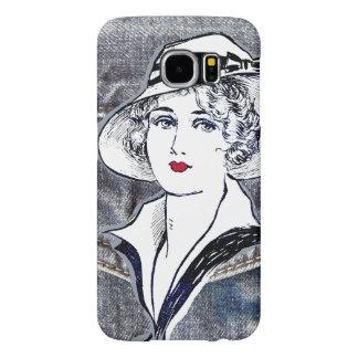 Denim/jean design & vintage ladies fashion print samsung galaxy s6 cases