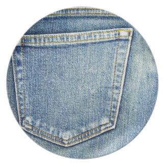 Denim Jeans Pocket Blue Fabric style fashion rich Plate