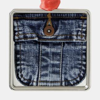 Denim Jeans Pocket Metal Ornament