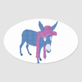 Denim Jenny Oval Sticker