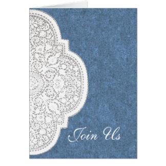 Denim & Lace Western Wedding Invitation Cards