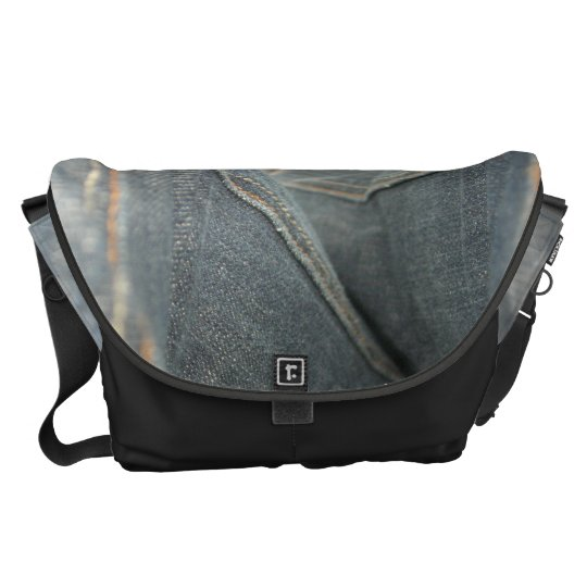 Denim Look - Large Messenger Bag