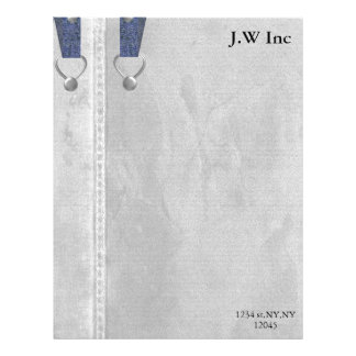 denim mod Business Letterheads Personalized Letterhead