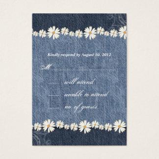 Denim n Daisies Wedding Response Card