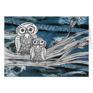 Denim Owls Card